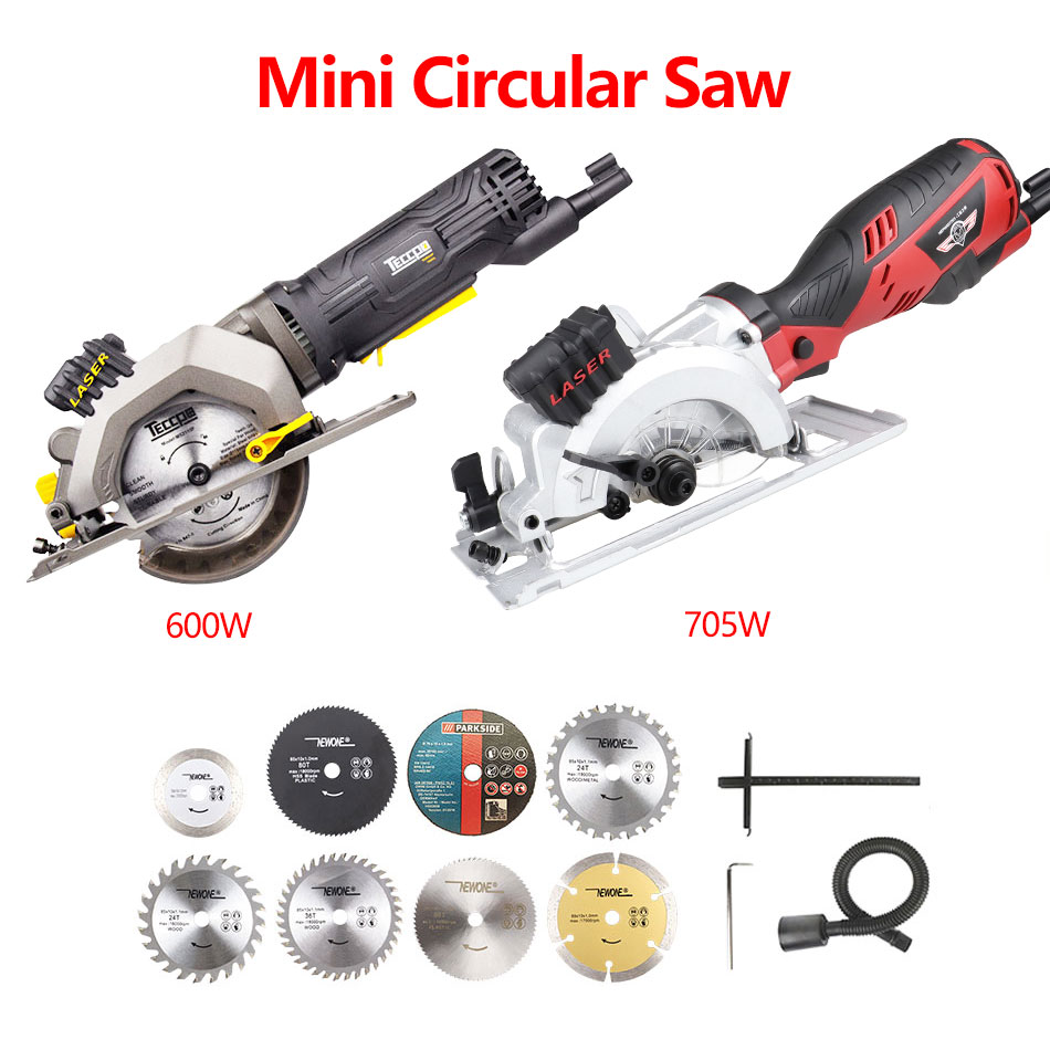 600W Electric Power Tool Electric Mini Circular Saw With Laser, DIY multi function Electric Saw For Cutting Wood,PVC Tube, Tile-in Electric Saws from Tools on