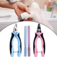 Профессиональная машинка для стрижки ногтей для домашних животных Триммер для когтей ножницы для ухода за ногтями клей-ручка с покрытием Противоскользящий инструмент S/L Синий/Розовый