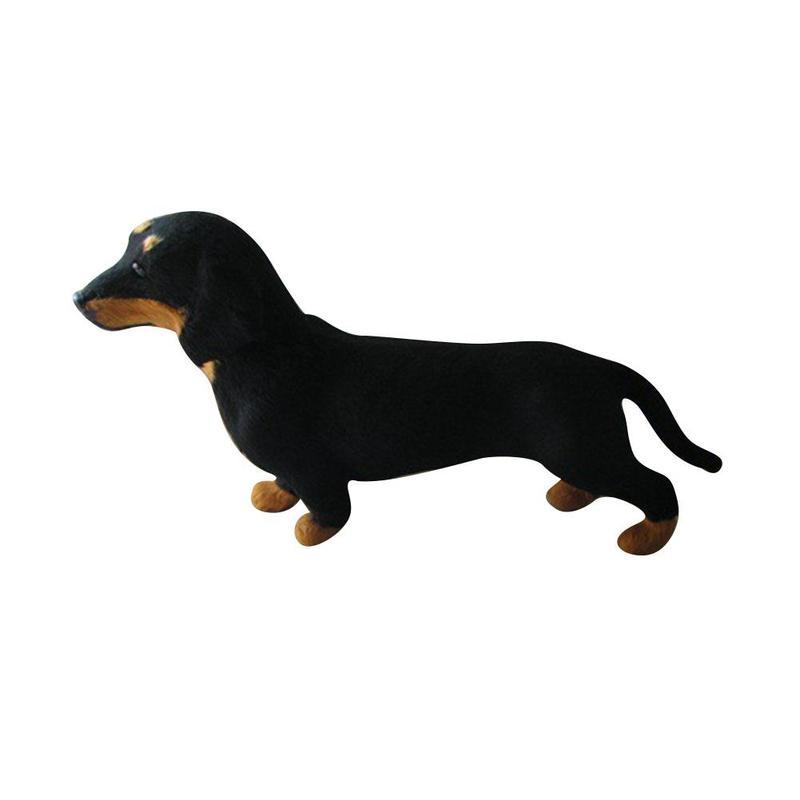 Реалистичные такса Моделирование игрушка собака щенок похожая на настоящую мягкие компаньон игрушка для домашней собаки ручной работы