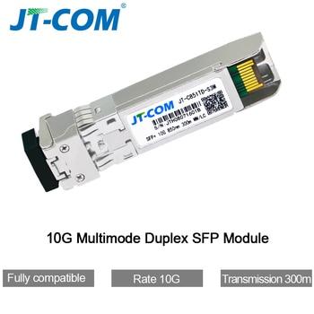 10G SFP+ duplex LC SFP Module Multi-Mode 850nm 300m  SFP-10G-SR with Cisco/Mikrotik/Huawei Switch Full Compatible sharetop 1 25g 1000m optical transceiver module multi mode dual fiber sfp 1000m 850nm 550m dual lc port full compatible