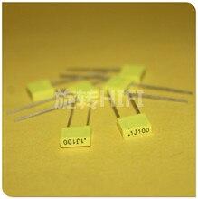 50PCS AV R82 100NF 100V P5MM נחושת סרט קבלים KEMET 104/100V MKT 0.1UF 100N איטליה Arcotronics 0.1 uF/100 V צהוב