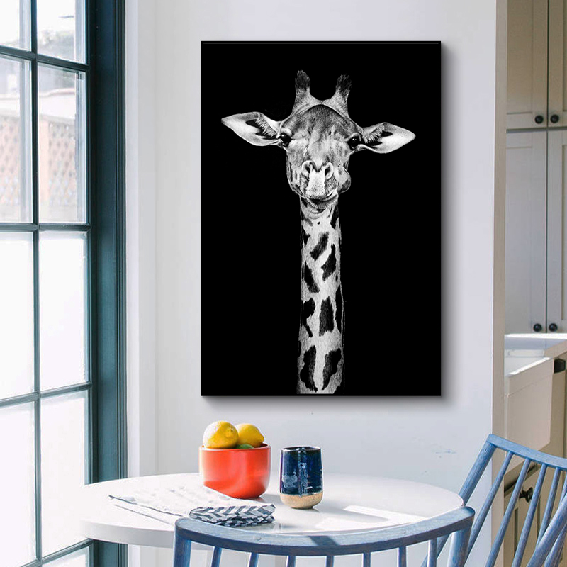 AAVV Canvas Painting Wall Art Canvas Print Animal Portrait Poster Picture For Living Room Home Decor No Frame(China)