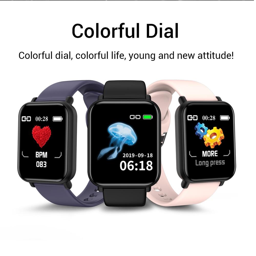 SENBONO R16 Women Men Smart Watch For Android Apple Watch IP67 Waterproof Heart Rate Blood Pressure Smartwatch  PK P68 P70 B57
