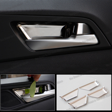 Lsrtw2017 Stainless Steel Car Inner Door  Bowl Panel Trims for Hyundai Tucson 2015 2016 2017 2018 2019 2020 Accessories lsrtw2017 stainless steel car wheel hup cap panel for hyundai santa fe 4th generation 2019 2020