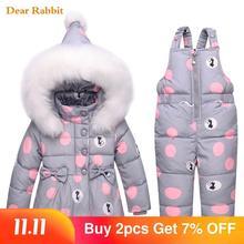 2020 nowe zimowe dzieci zestawy odzieżowe dziewczyny ciepła parka dół kurtka dla baby girl odzież dla dzieci płaszcz odzież na śnieg garnitur dla dzieci