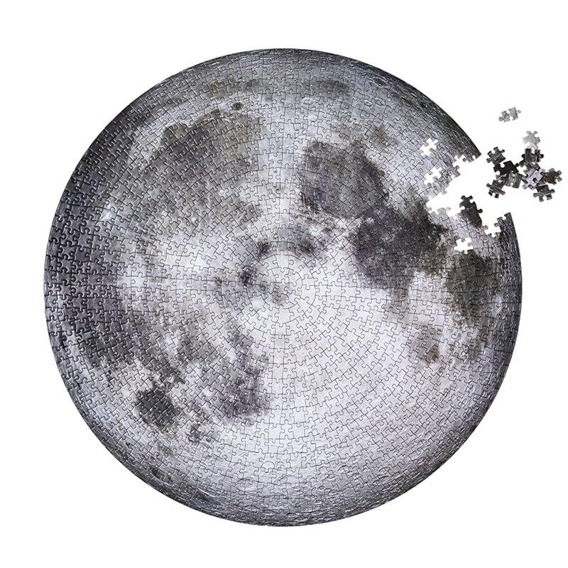 Rompecabezas de la luna 1000 piezas para adulto puzle rompecabezas de juguete la luna y la tierra rompecabezas juguetes educativos niños regalos Tarjeta de lectura infantil, rompecabezas de educación temprana para bebés de 0 a 6 años, tarjeta de memoria con palabras cognitivas, tarjeta Flash
