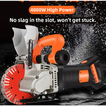Electric Wall Chaser Groove Cutting Machine Wall slotting machine Steel Concrete cutting machine 4.8KW  220V