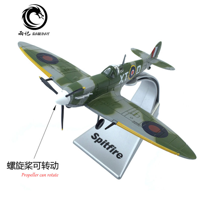 1/72 Scale World War II Royal Air Force Supermarine Spitfire Fighter Diecast Metal Plane Model Toy For Gift,Kids,Collection image
