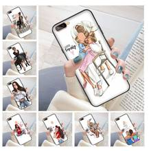 VOGUE Christmas Princess Girl Female boss coffee DIY Printing Phone Case cover Shell for oppo r11 r11s plus r15 r17 r17pro case(China)