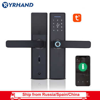 Tuya Biometric Fingerprint Lock, Security Intelligent Smart Lock With WiFi APP Password RFID Unlock,Door Lock Electronic Hotels - DISCOUNT ITEM  63% OFF All Category