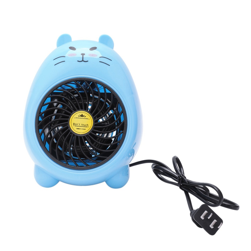 220V 400W Mini Small Electric Heaters Fan Home Office Heater Warmer Electric Warming Treasure,US Plug