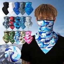 Мода спорт шарф открытый велоспорт бандана пеший туризм охота наушники повязка на голову шарф шея чехол лето женщины мужчины половина лицо чехол