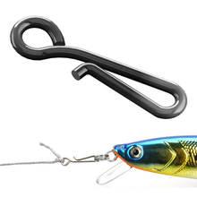 100 шт. Fast Fishing Swivel Snap Clips Нержавеющая Сталь Подвешивание Snap Quick Lock Hook Link Clip Rigging Safety Decoy Swivel Size0-6