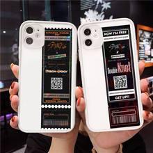 Kpop Verdwaalde Kids Air Tickets Telefoon Case Matte Transparant Voor Iphone 7 8 11 12 Plus Mini X Xs Xr pro Max Cover