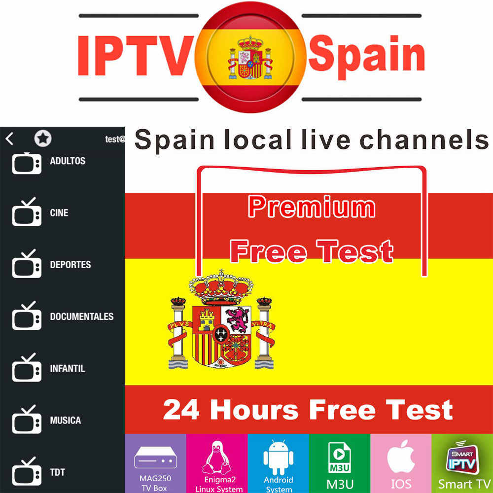Premium IPTV espagne M3U 1 an d'abonnement Local en direct TV Movistar pour SSIPTV Android TV Box Smart IPTV Smarters