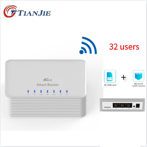 RJ45 ports modem 4G LTE Wireless Router 300Mbps High Power CPE Router with SIM Card Slot 4*External Antennas 4g router Unlocked