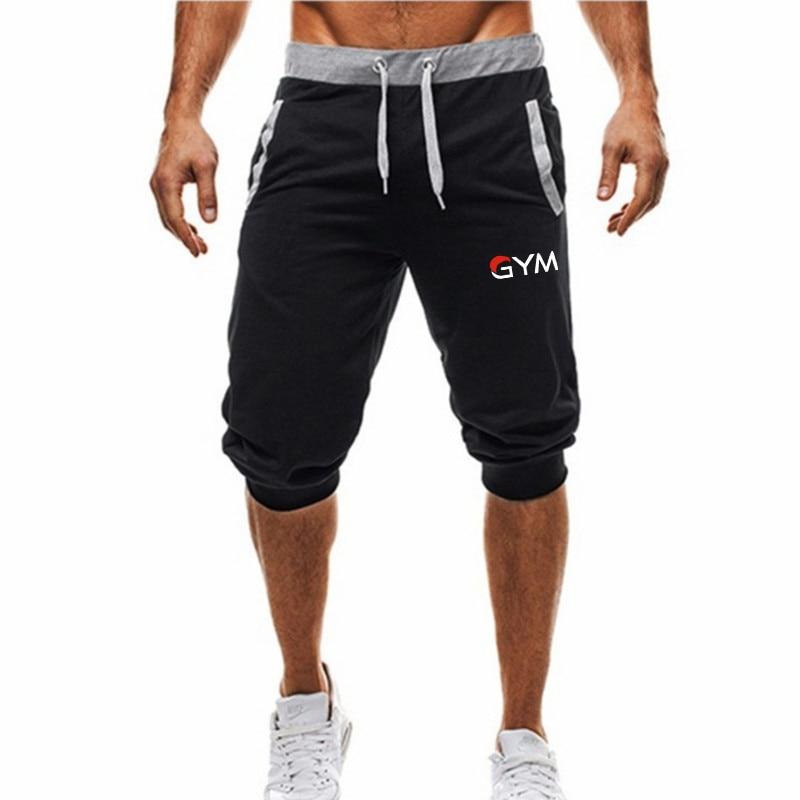 Brand New Mens Gym Shorts Run Jogging Sports Fitness Bodybuilding Sweatpants Male Workout Training Brand Knee Length Short Pant