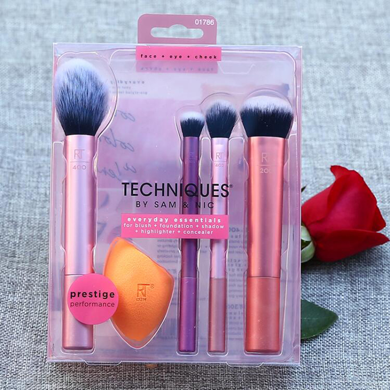 Techniques Face Brushs Bamboo Handle Makeup Brush Eyeshadow Concealer Foundation Woolen Brushes Suit 11pc/kit