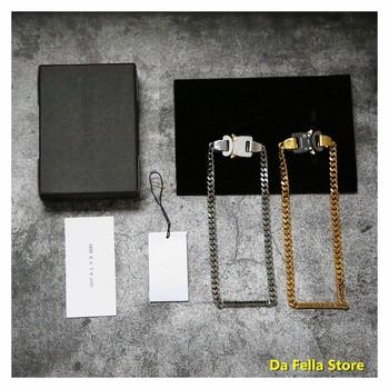 2020 1017-ALYX-9SM BUCKLE NECKLACE Men Women Golden White ALYX Necklaces Openwork letters torque 1:1 High Quality