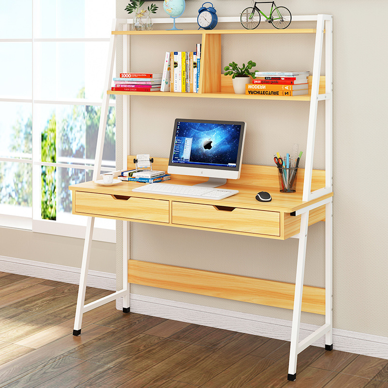 On Behalf Of Desktop Computer Desk Simplicity Desk Bookshelf Combination Household Multi-functional Writing Desk Creative Writin