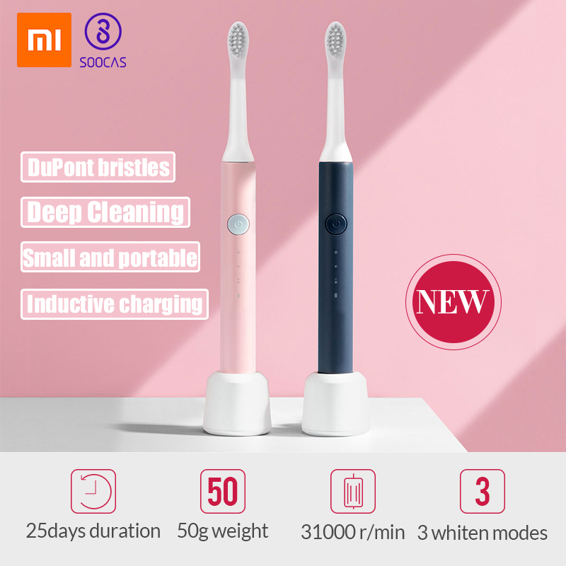 Xiaomi Electric Toothbrush Sonic Wave Toothbrush For Replaceable Toothbrush Head Rechargeable Electric Toothbrush Gift 5
