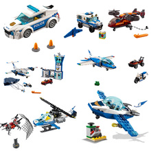 2019 City Toys Sky Police Drone Chase Compatible Legoines Figure 60207 60239 60208 60210 Building Blocks for Children Gift
