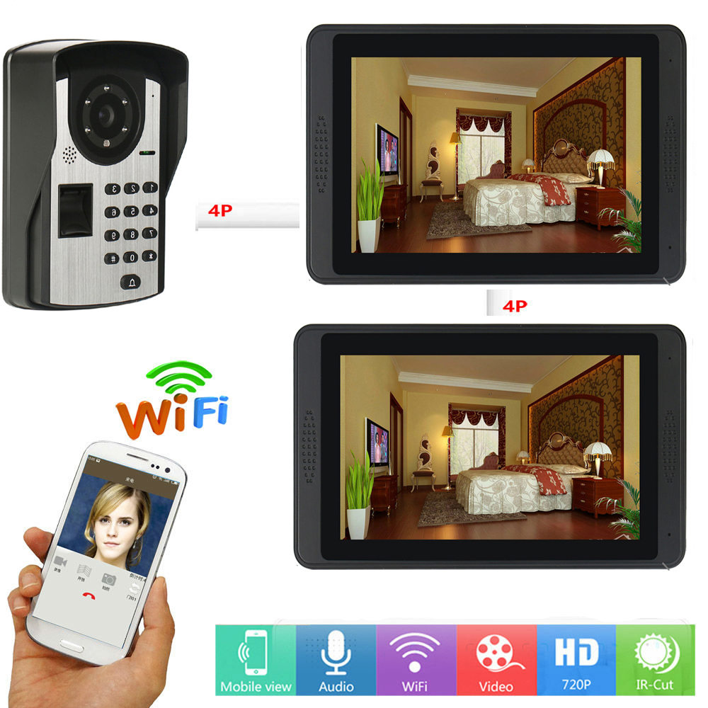 WIFI Video Intercom For Home Security 7 Inch Monitor With Entry Camera Video Door Phone Doorbell Camera System