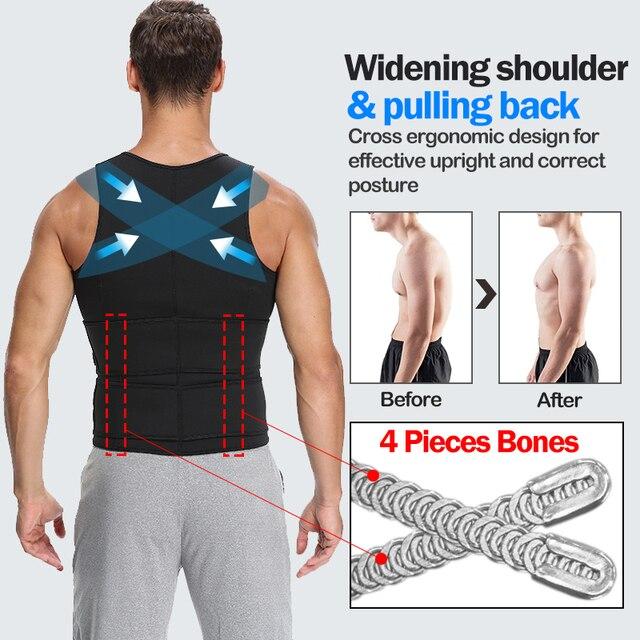 Men Body Shaper Sauna Vest Waist Trainer Zip Double Belt Sweat Shirt Corset Top Abdomen Slimming Shapewear Fat Burn Fitness Top 3