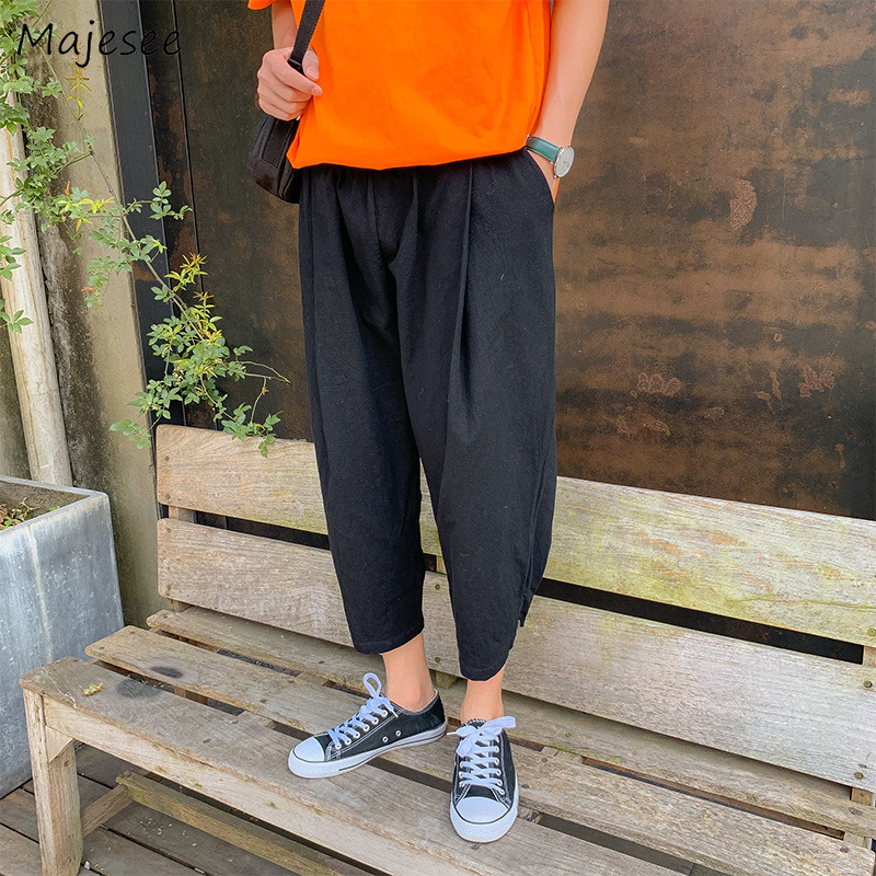 Pants Men Sweatpants Trendy Harem Pant High Quality Korean Streetwear Mens Trousers Ankle-length Breathable Plus Size Ulzzang