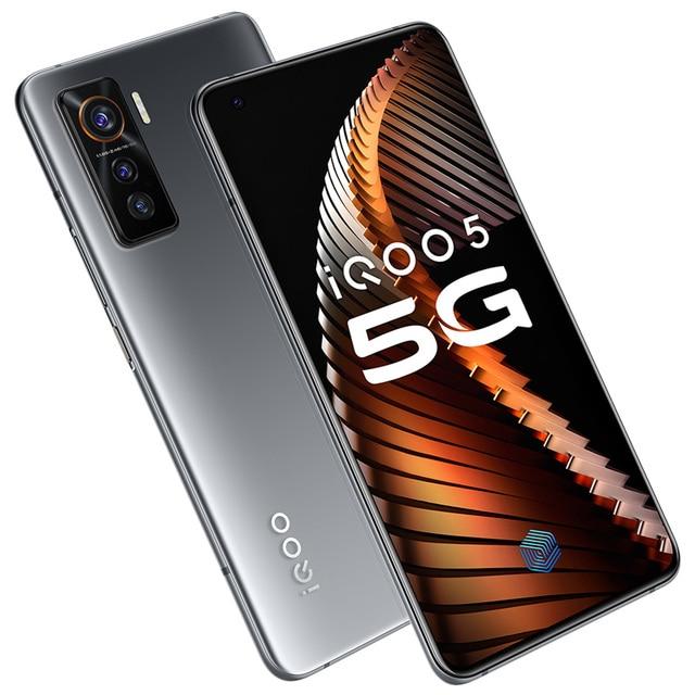 Vivo iQOO 5 12GB 128GB Snapdragon 865 5G Smartphone 4500mAh 55W 120Hz Refresh Rate 50.0MP Triple Cameras Telephone Electronics Mobile Phones