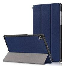 20 unids/lote 2020 funda abatible para Lenovo Tab M10 FHD Plus X606 funda delgada de cuero PU para tableta de lujo