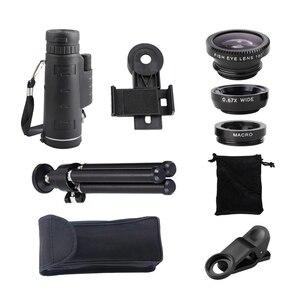 Image 5 - Telefoon Lens 40x Zoom Telescoop Monoculaire Super Lens Voor Telefoon Hd Camera Lentes Voor Iphone 6S 7 Xiaomi Meer mobiel Met Statief
