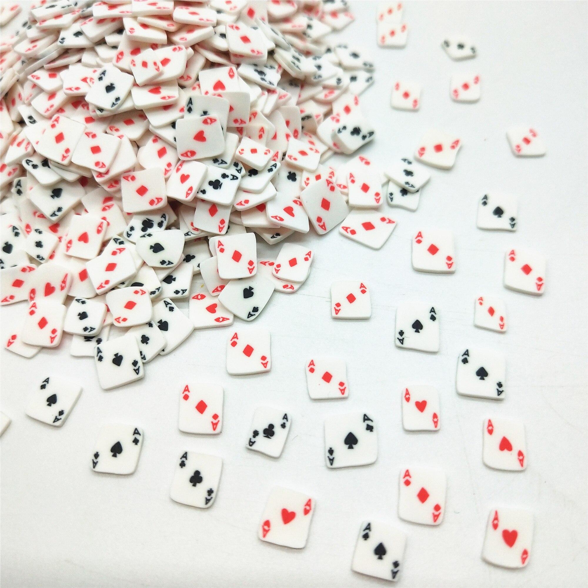 20 г/лот Ace Poker игральные карты полимерные глиняные Ломтики для поделок своими руками 5 мм пластиковые клеи частицы грязи глины