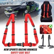 Esportes originais corrida universal 4 ponto cinto de segurança simples quatro pontos cintos de segurança do carro auto fivela arnês veículo