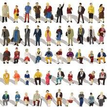 40-100 pces ho escala sentado pessoas de pé 1:87 figuras modelo de passageiro kit de construção p8715