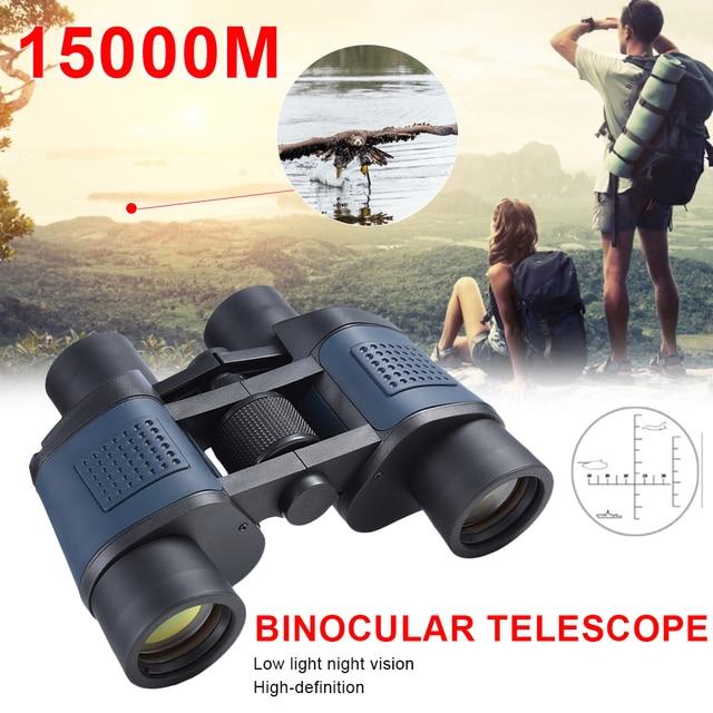 60×60  Powerful Binoculars Long Range 15000M Hunting Telescope Night Vision Professional Binoculars For Hiking Travel Sports 1