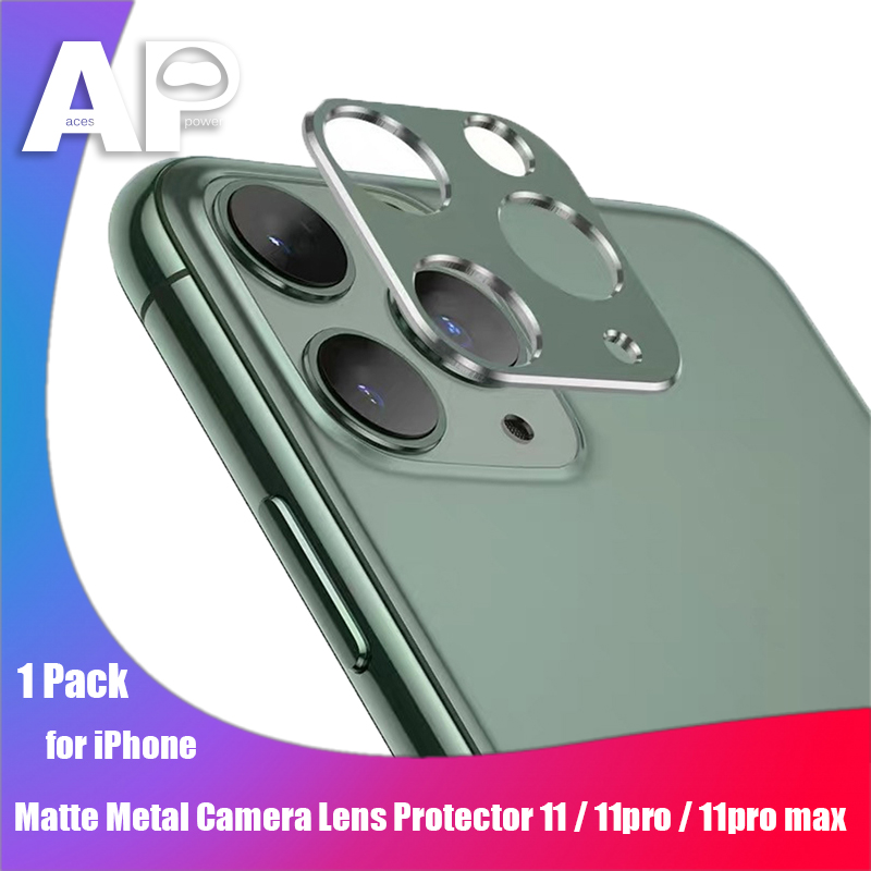 Acespower Midnight Green Lens Protector Back Camera Len Protective Matte Metal Frame For IPhone 11 PRO MAX Hollow Protectors