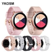 Correa de silicona para Samsung Galaxy Watch Active 2, repuesto de 40/44 MM para Galaxy Watch 20 MM, pulsera deportiva