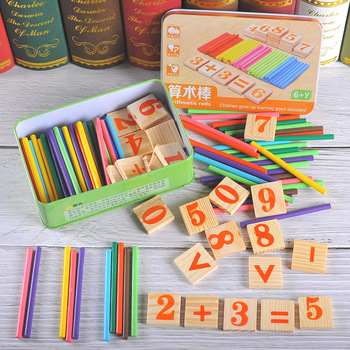 Baby Math Toy!!!Wooden Stick Magnetic Mathematics Puzzle Education Number Toys Calculate Game Learning Counting Kids Gifts