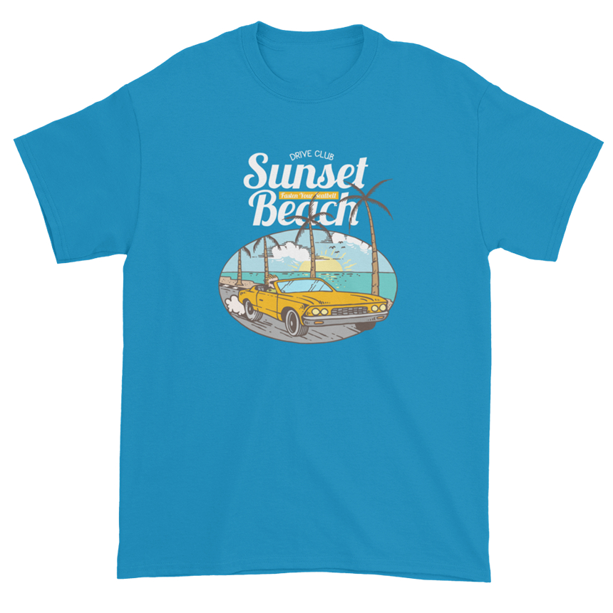Gta Gamer Video Games Sunset Beach Drive Club Men'S Unisex T-Shirt 023 Breathable Tops Tee Shirt image
