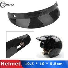 Vehemo мотоциклетный шлем пик объектива козырек открытым уход за кожей лица Солнцезащитный козырек щит 3-защелкивающийся шлем шляпа