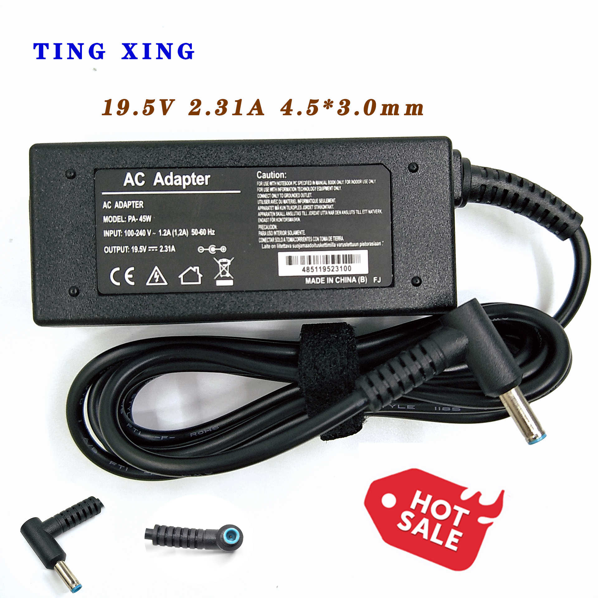 TINGXING19.5V2.31A 45W 4.5*3.0 milímetros Adaptador AC laptop Charger Power Supply Para ProBook 400 430 440 450 455 470 G3