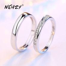 NEHZY 925 en argent sterling nouveau bijoux mode femme ouverture bague anniversaire de mariage anniversaire mariage fiançailles couple anneau