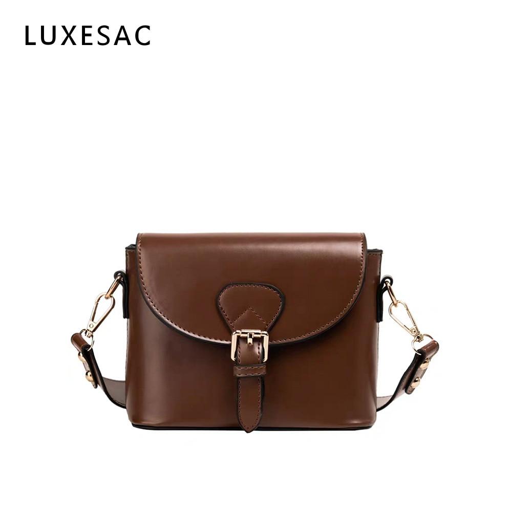 Brown Bag Ladies Shoulder Bags Clutch Bag Female Crossbody Bag For Women 2019 Quality Pu Messenger Bags With Wide Strap Handbag
