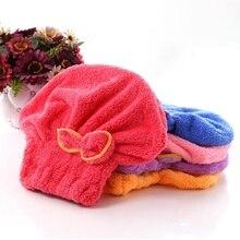 1Pcs Microfiber Bath Towel Hair Dry Quick Drying Lady