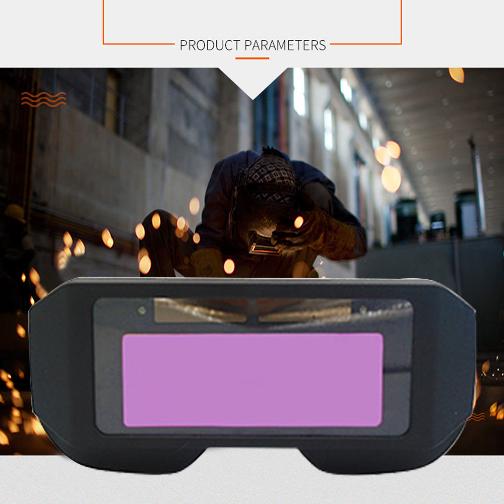 Solar Automatic Dimming Welding Protective Mask Universal Black Pp Material Welding Goggle Dropship Welder Glasses Welding Cap