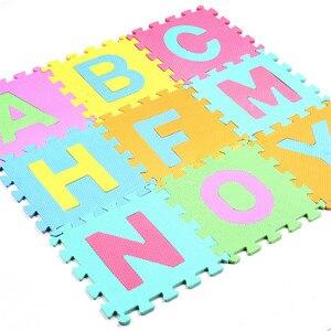 Image 2 - 26Pcs/set 30*30cm Cartoon English Alphabet Pattern Baby Crawling Mat Puzzle Toys For Kid EVA Foam Yoga Letter Mats Learning Toy