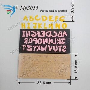 Image 1 - Matrice de découpe muyu, bricolage, nouvelle matrice de découpe de moule en bois pour scrapbooking MY3055, A Z