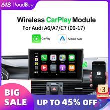 LoadKey אלחוטי Carplay עבור אאודי מפענח A6 A7( C7) 2010 2016 מקורי מסך מולטימדיה נגן Apple Carplay & אנדרואיד אוטומטי