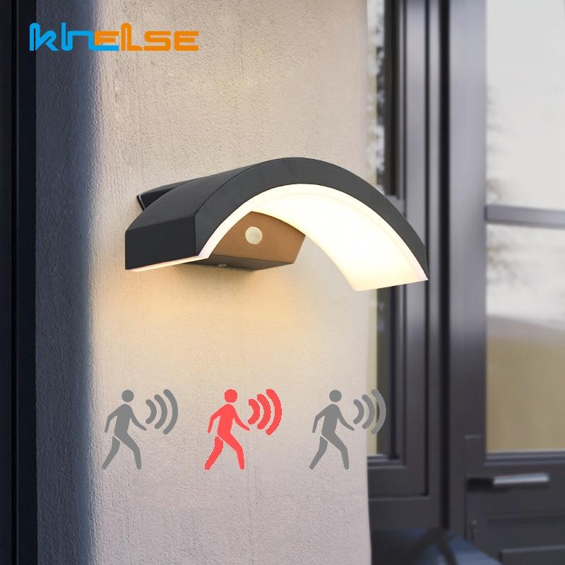 20W Waterproof Wall Lamp PIR Motion Sensor Outdoor LED Porch Garden Corridor Wall Lamps Spotlight Sconce Exterior Light Fixture